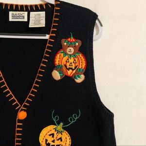 Other - Halloween sweater vest fall thanksgiving size LRG